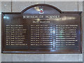 TQ3088 : Plaque Listing Past Mayors, Hornsey Town Hall, London N8 by Christine Matthews