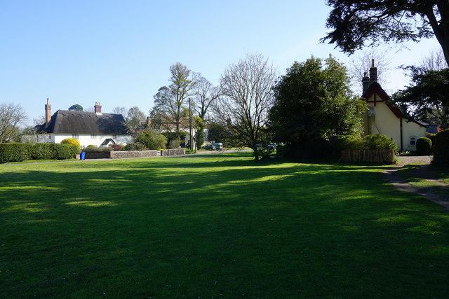 Village green and thatched cottages, Horringer by Bill Boaden