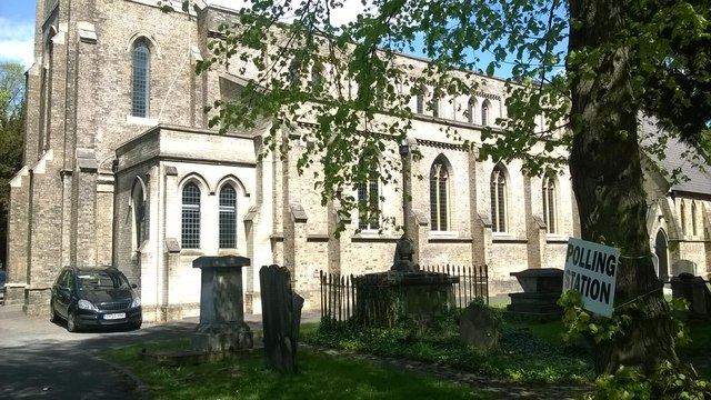 All Saints church, Upper Norwood, in use as a polling station, General Election May 2015