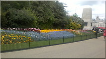 TQ2979 : View of a bright floral display in St. James's Park by Robert Lamb