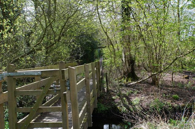 Footbridge over River Bure