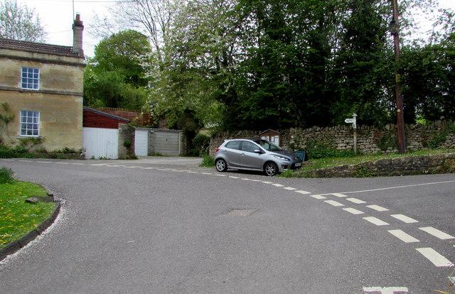 Bend in the road to Bath, Freshford