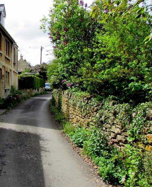 Eastern end of Pipehouse Lane, Freshford