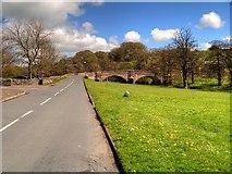 SD7152 : Slaidburn, Chapel Street, The Village Green and the Bridge by David Dixon