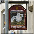 SJ9495 : Cheshire Ring: Pub sign by Gerald England