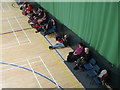 TL2008 : Spectators beside court, badminton Shires League U17 final by David Hawgood