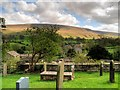 SD7844 : View of Pendle Hill from St Leonard's Churchyard by David Dixon