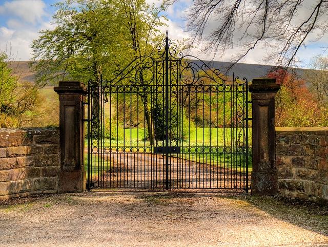 Gates to Downham Hall