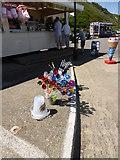 TG2142 : Beach kiosks on the sea wall, Cromer by ruth e