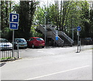 SU3521 : Station Road entrance to Romsey railway station car park by Jaggery