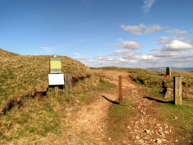 Track onto the Moor at Nick of Pendle