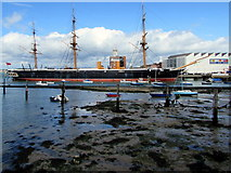 SU6200 : HMS Warrior in Portsmouth Harbour by Jaggery