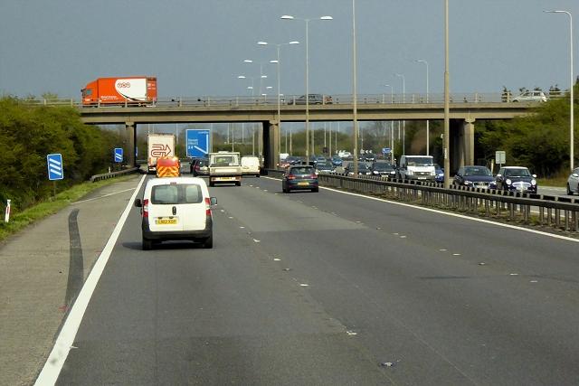 Bridge over the M4 near Dorney