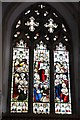 SS7308 : Stained glass window, Lapford church by Philip Halling