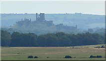 SY9583 : Corfe Castle in the mist by Edmund Shaw