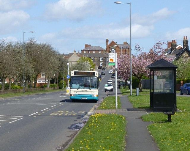 Bus stop at Hartford Road