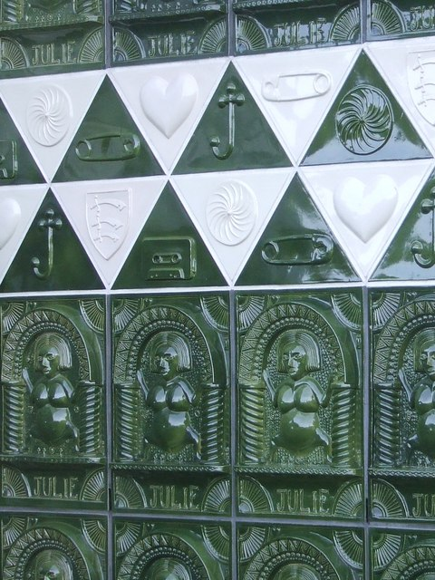 Close Up Of Tiles