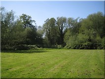 SP2865 : The kickabout corner of Priory Park, west of Coventry Road, Warwick by Robin Stott