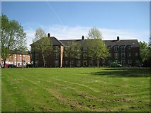SP2865 : North side of Woodville Court, by Coventry Road, Warwick by Robin Stott