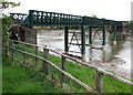 ST3290 : Driftwood trapped in a railway bridge support frame, Newport by Jaggery