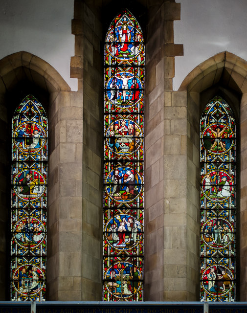 Stained glass window, St Andrew's church, Kirton in Lindsey
