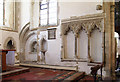 TQ9947 : St Mary, Westwell - Piscina & sedilia by John Salmon