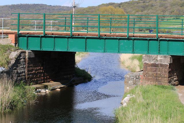 Railway bridge over drainage channel