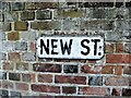 TR1458 : Vintage street nameplate, New Street, Canterbury by Chris Whippet