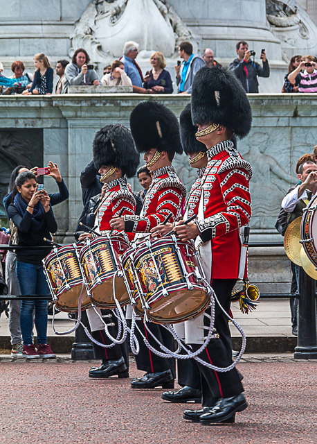Drummers in The Mall, London SW1