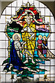SK9892 : East window, St Peter's church, Bishop Norton by Julian P Guffogg