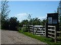 TF0311 : Entrance to Top Farm caravan park near Ryhall by Richard Humphrey