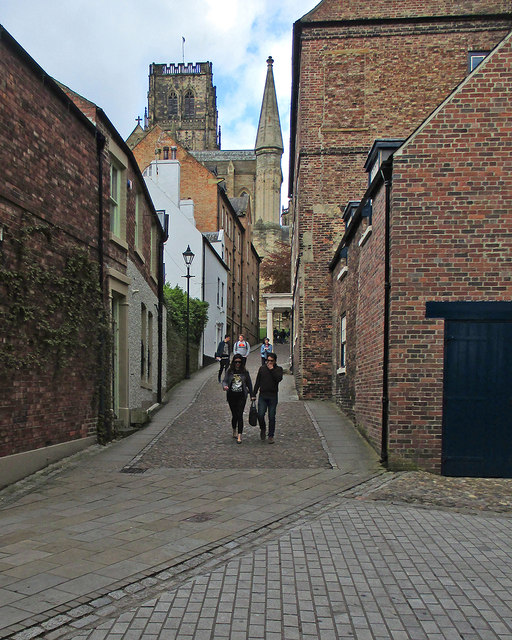 Durham: up Bow Lane to the Cathedral