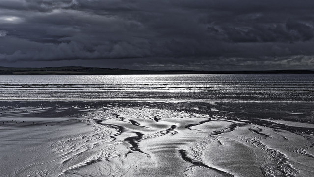 Ripples in the sand on Dunnet Beach