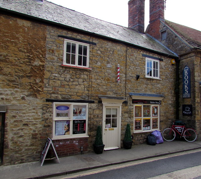 Sweeney Tod's Barber Shop and bicycle, Sherborne