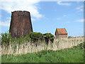 TG4501 : Pettingell's drainage windpump and modern pump house by Evelyn Simak