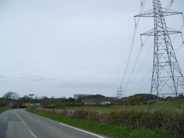 Near Wylfa Magnox Power Station