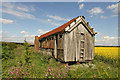 SK6673 : Old railway carriage by Richard Croft