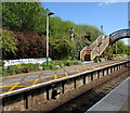 ST7022 : Disused platform at Templecombe railway station by Jaggery