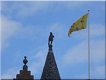 NJ1736 : Rooftop, Ballindalloch Castle by Oliver Dixon