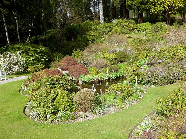 Water garden, Ballindalloch Castle