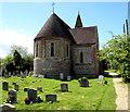 SU2527 : NE corner of St Mary's church in West Dean by Jaggery