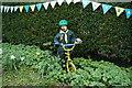 TA0037 : Tour de Yorkshire bunting on East End, Walkington by Ian S