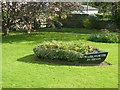 NU2406 : Warkworth in bloom - the boat as planter by Oliver Dixon