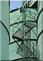 SJ8096 : Stairs among the silos by Alan Murray-Rust