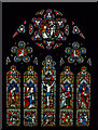 SK8810 : East window, Holy Cross church, Burley by Julian P Guffogg