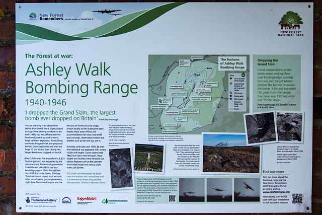 (7d) A tour of the WWII Ashley Walk Bombing Range - Observation Shelter (detail)