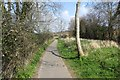 SY4694 : Foot and cycle path, Pyemore Road by Richard Webb