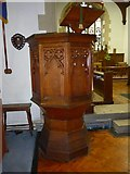 SD3097 : St Andrew, Coniston:pulpit by Basher Eyre