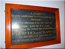 SD3097 : St Andrew, Coniston: donation commemoration by Basher Eyre