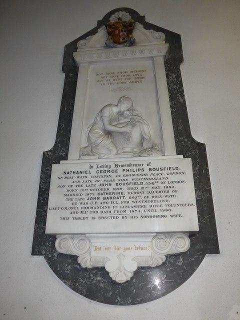 St Andrew, Coniston:memorial (iv)